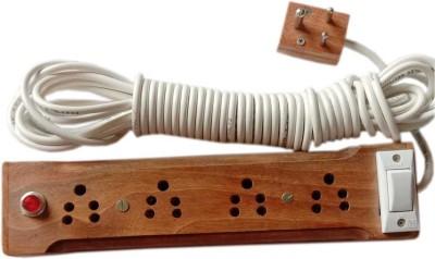 shanti m.s. 4 Socket Extension Boards Brown