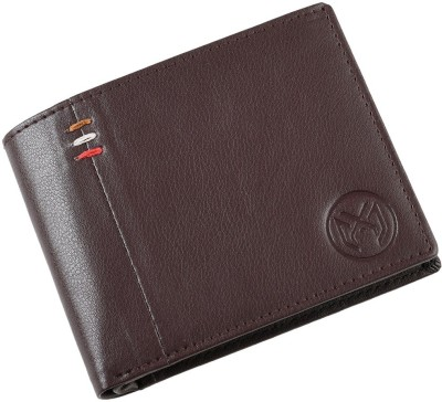 Xamio Men Brown Artificial Leather Wallet(6 Card Slots)