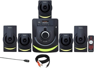 TRONICA Ace 1 Series LED Spectrum 5.1 Home Theater System with Bluetooth/SD Card/Pen Drive/FM/AUX Support & Remote (5.1) 50 W...