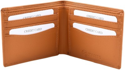 Xamio Boys Tan Artificial Leather Wallet(6 Card Slots)