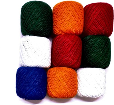 KHUSHA CREATIONS multicolor Thread 9 m Pack of9