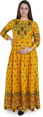 MomToBe Women A-line Multicolor Dress
