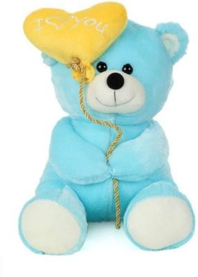 Tickles Cute I Love You Balloon Heart Teddy   18 cm Blue, Yellow Tickles Soft Toys