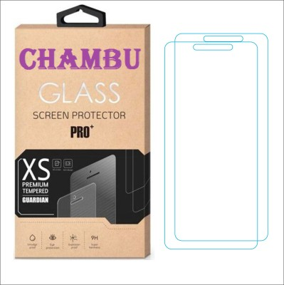 CHAMBU Tempered Glass Guard for Micromax Bolt A58(Pack of 2)