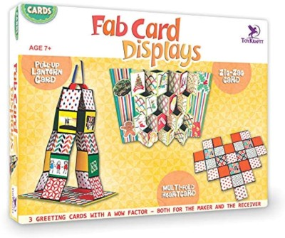 ToyKraft Card Making Kit - Fab Card Displays - Make 3 Greeting Cards with a Wow Factor - for 7 year-olds and above