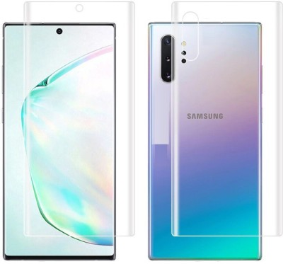 Mobilive Front and Back Tempered Glass for Samsung Galaxy Note 10 Lite(Pack of 2)