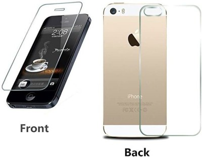 Mobilive Front and Back Tempered Glass for Apple iPhone 5s(Pack of 2)