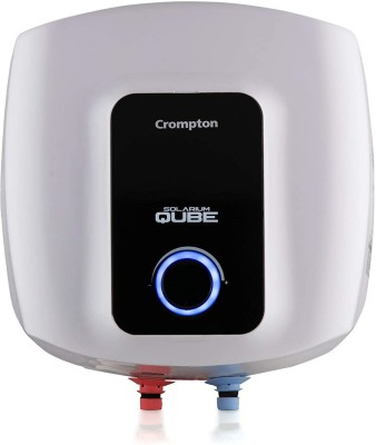 Crompton 25 L Storage Water Geyser (SWH 25LT(2425)Solarium Qube,Square White and Black, White and Black)