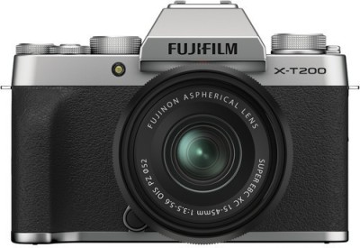 Fujifilm X Series X-T200 Mirrorless Camera Body with 15-45 mm Lens(Silver)
