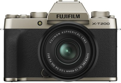 FUJIFILM X Series X-T200 Mirrorless Camera Body with 15-45 mm Lens(Gold)
