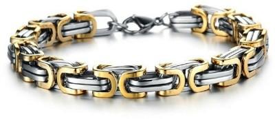 Jewelgenics Stainless Steel Silver Bracelet