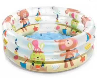 SANJARY Inflatable Baby Pool Bath Water Tub for Kids (2 feet) 0-3 Years (Multi Colour) Inflatable Swimming Pool (Multicolor) Inflatable Swimming Pool(Multicolor)