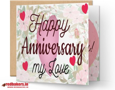 redbakers.in Happy Anniversary Great Together Greeting Card Greeting Card(Multicolor, Pack of 1)