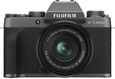 Fujifilm X Series X-T200 Mirrorless Camera Body with 15-45 mm Lens(Black, Grey)