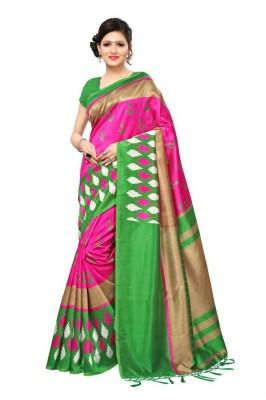 JASHIYA Printed Bollywood Cotton Silk Saree Multicolor JASHIYA Women's Sarees