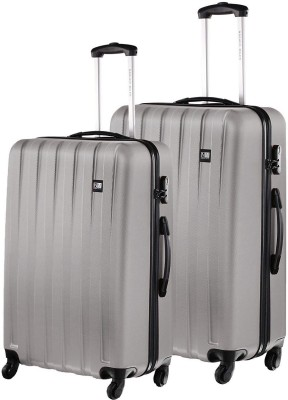 Nasher Miles Zurich Grey Abs Hardsided Set Of 2 Luggage Set 65   75 Cm  Check in Luggage   28 inch Nasher Miles Suitcases