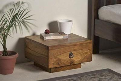 Shagun Arts Wooden Bedside End Table Solid Wood Bedside Table(Finish Color - Brown)