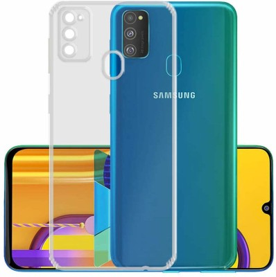 Case Creation Back Cover for Samsung Galaxy M21 Soft Phone Case Slim Cover with flexible TPU Technology(Transparent, Camera Bump Protector, Silicon)