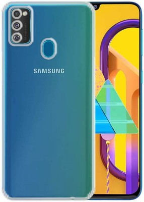 Case Creation Back Cover for Samsung Galaxy M31 Soft Phone Case Slim Cover with flexible TPU Technology(Transparent, Camera Bump Protector, Silicon)