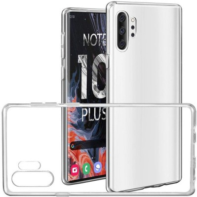 Case Creation Back Cover for Samsung Galaxy Note 10+ Soft Phone Case Slim Cover with flexible TPU Technology(Transparent, Camera Bump Protector, Silicon)