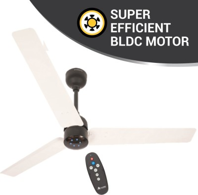 Atomberg Renesa 1200 mm BLDC Motor with Remote 3 Blade Ceiling Fan(White & Black, Pack of 1)