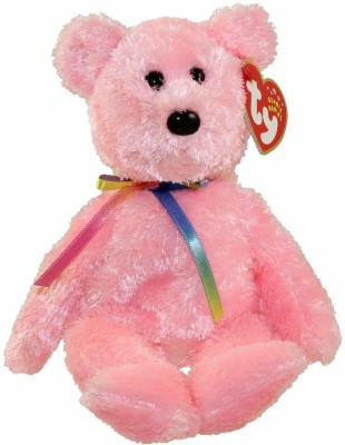 TY Beanie Baby   SHERBET the Bear   15 cm Pink TY Soft Toys