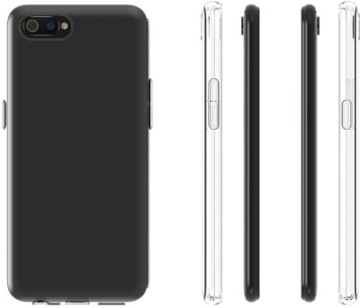 Case Creation Back Cover for RealmeC1 Soft Phone Case Slim Cover with flexible TPU Technology(Transparent, Camera Bump Protector, Silicon)