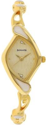 Sonata NG8073YM01C Sona Sitara Analog Watch   For Women Sonata Wrist Watches