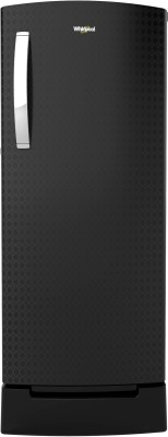 Whirlpool 200 L Direct Cool Single Door 4 Star (2020) Refrigerator with Base Drawer(Argyle Black, 215 IMPRO ROY 4S INV ARGYLE BLACK)