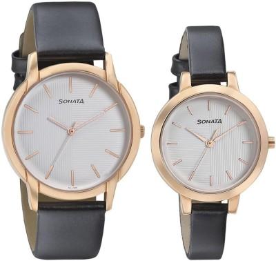 Sonata 770318141WL02 Analog Watch  - For Couple
