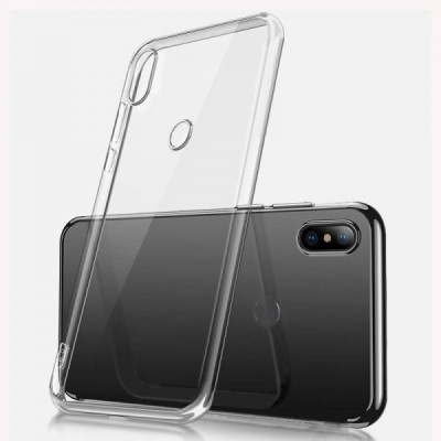 Case Creation Back Cover for Xiaomi MiA2 Soft Phone Case Slim Cover with flexible TPU Technology(Transparent, Camera Bump Protector, Silicon)