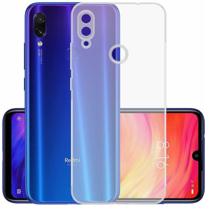 Case Creation Back Cover for Xiaomi Redmi Note 7 Soft Phone Case Slim Cover with flexible TPU Technology(Transparent, Camera Bump Protector, Silicon)