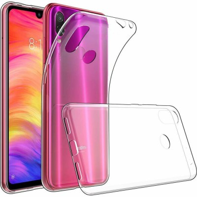 Case Creation Back Cover for Xiaomi Redmi Note 7 Pro Soft Phone Case Slim Cover with flexible TPU Technology(Transparent, Camera Bump Protector, Silicon)