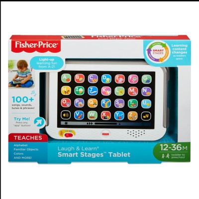 FISHER PRICE LAUGH N LEARN SMART STAGE Tablet Grey Multicolor FISHER PRICE Educational Toys