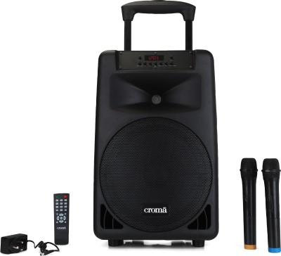Croma Trolley Music System CREY3024 SFPX2000 240 W Bluetooth Home Theatre(Black, Stereo Channel)