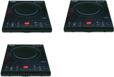 Usha 3616 pack of 3 Induction Cooktop(Black, Push Button)