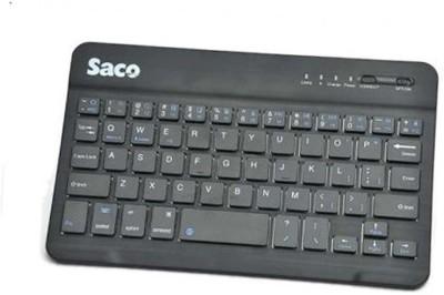 Saco Slim Bluetooth Keyboard forApple iPhone 5S Bluetooth Multi-device Keyboard(Black)