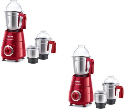 USHA Mixer Grinder Thunderbolt Pack of 2 800 Mixer Grinder (6 Jars, Red)