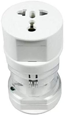 VIBOTON All In One Travel Adapter   Without usb Port    White  Worldwide Adaptor White