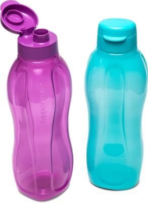 Tupperware Bottle 1.5 L set of 2 1400 ml Bottle(Pack of 2, Purple, Blue, Plastic)