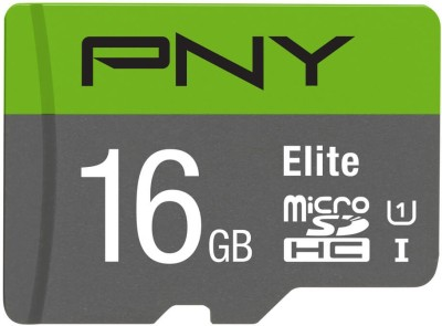 PNY Elite 16  GB MicroSDHC UHS Class 1 85 Mbps Memory Card