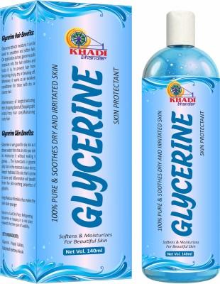 KHADI BHANDAR Glycerin for Beauty and Face, Skin, Hair Care(140 ml)