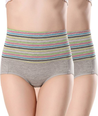 PLUMBURY Women Hipster Multicolor Panty(Pack of 2)