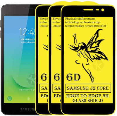 Kreatick Edge To Edge Tempered Glass for samsung Galaxy J2 Core(Pack of 3)