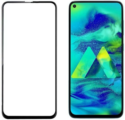 HOBBYTRONICS Edge To Edge Tempered Glass for Samsung Galaxy M40, Samsung Galaxy A60(Pack of 1)