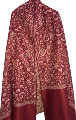 Royal-E-Kashmir Wool Woven Women Shawl(Multicolor)