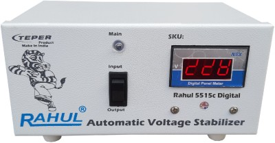 Rahul 5515 c Digital 415 VA 140-280 Volt 1 LCD/LED TV +DVD/DTH/Music System Auto Matic Voltage Stabilizer Auto Matic Stabilizer(White)