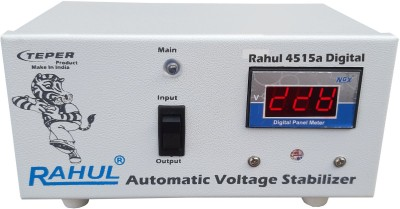 Rahul 4515 a Digital 300 VA 140-280 Volt 1 LCD/LED TV +DVD/DTH/Music System Automatic Voltage Stabilizer Auto Matic Stabilizer(White)