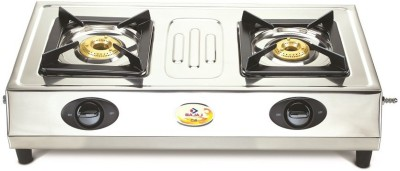 Bajaj Steel Manual Gas Stove(2 Burners)