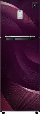 Samsung 275 L Frost Free Double Door 3 Star (2020) Convertible Refrigerator(Rythmic Twirl Plum, RT30T37534R/HL)